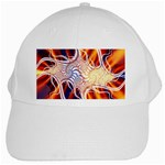 Woodstock Trip Orange Blue Fractal White Cap