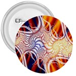 Woodstock Trip Orange Blue Fractal 3  Button