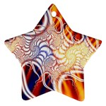 Woodstock Trip Orange Blue Fractal Ornament (Star)