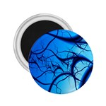 Shades of Blue Spider Tendrils Fractal 2.25  Magnet