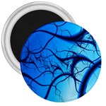 Shades of Blue Spider Tendrils Fractal 3  Magnet