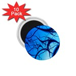 Shades of Blue Spider Tendrils Fractal 1.75  Magnet (10 pack)