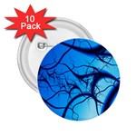 Shades of Blue Spider Tendrils Fractal 2.25  Button (10 pack)