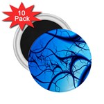 Shades of Blue Spider Tendrils Fractal 2.25  Magnet (10 pack)