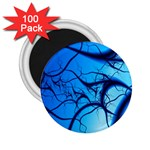 Shades of Blue Spider Tendrils Fractal 2.25  Magnet (100 pack)