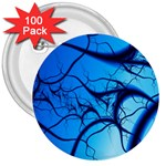 Shades of Blue Spider Tendrils Fractal 3  Button (100 pack)