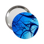 Shades of Blue Spider Tendrils Fractal 2.25  Handbag Mirror