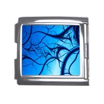 Shades of Blue Spider Tendrils Fractal Mega Link Italian Charm (18mm)