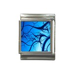 Shades of Blue Spider Tendrils Fractal Italian Charm (13mm)