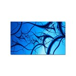 Shades of Blue Spider Tendrils Fractal Sticker (Rectangular)