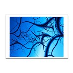 Shades of Blue Spider Tendrils Fractal Sticker (A4)