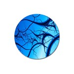 Shades of Blue Spider Tendrils Fractal Magnet 3  (Round)