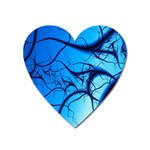 Shades of Blue Spider Tendrils Fractal Magnet (Heart)