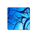 Shades of Blue Spider Tendrils Fractal Magnet (Square)