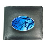 Shades of Blue Spider Tendrils Fractal Wallet
