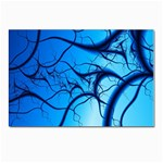 Shades of Blue Spider Tendrils Fractal Postcard 4  x 6