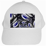 Black Lace Goth Punk Fractal White Cap