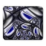 Black Lace Goth Punk Fractal Large Mousepad