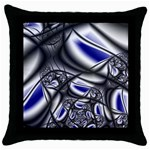 Black Lace Goth Punk Fractal Throw Pillow Case (Black)