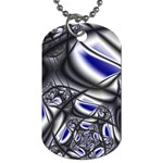 Black Lace Goth Punk Fractal Dog Tag (One Side)
