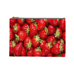 Red Fruits Cosmetic Bag (large)  by AnjaniArt