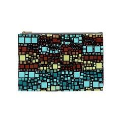Block On Block, Aqua Cosmetic Bag (medium)  by MoreColorsinLife