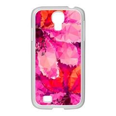 Geometric Magenta Garden Samsung Galaxy S4 I9500/ I9505 Case (white) by DanaeStudio