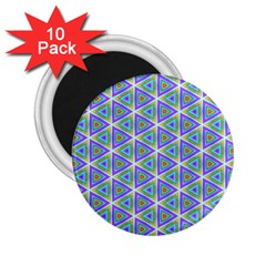 Colorful Retro Geometric Pattern 2 25  Magnets (10 Pack)  by DanaeStudio