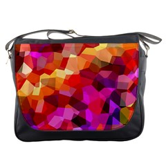 Geometric Fall Pattern Messenger Bags by DanaeStudio