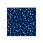 Spoonie Strong Print in Marine Blue Satin Bandana Scarf
