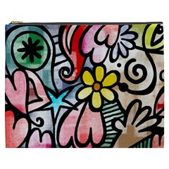 Abstract Doodle Cosmetic Bag (xxxl)  by AnjaniArt