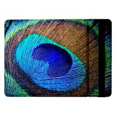 Blue Peacock Samsung Galaxy Tab Pro 12 2  Flip Case by AnjaniArt