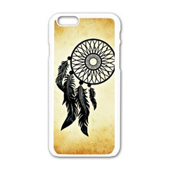 Dream Catcher Apple Iphone 6/6s White Enamel Case by AnjaniArt