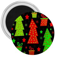 Merry Xmas 3  Magnets by Valentinaart