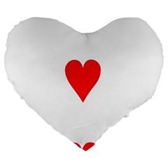 Cart Heart 03 Tre Cuori Large 19  Premium Flano Heart Shape Cushions by AnjaniArt