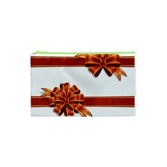 Gift Ribbons Cosmetic Bag (xs) by AnjaniArt