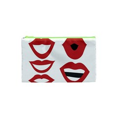 Lip Sexy Red Cosmetic Bag (xs) by AnjaniArt