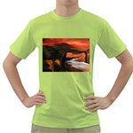 River Styx Gothic Fantasy Painting Green T-Shirt