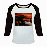 River Styx Gothic Fantasy Painting Kids Baseball Jersey