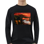 River Styx Gothic Fantasy Painting Long Sleeve Dark T-Shirt