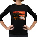 River Styx Gothic Fantasy Painting Women s Long Sleeve Dark T-Shirt