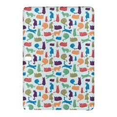 Blue Colorful Cats Silhouettes Pattern Samsung Galaxy Tab Pro 10 1 Hardshell Case by Contest580383