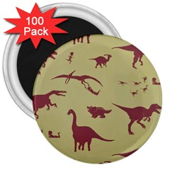 Dinosourus 3  Magnets (100 Pack)