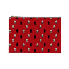 Cute Zombie Pattern Cosmetic Bag (large)  by AnjaniArt