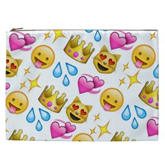 King Cat Smile Water Love Christmast Cosmetic Bag (xxl)