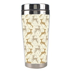 Paper Gift Deer Stainless Steel Travel Tumblers by AnjaniArt