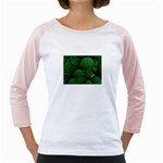 Green Fantasy Fish World Fractal Girly Raglan