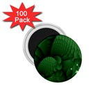 Green Fantasy Fish World Fractal 1.75  Magnet (100 pack)