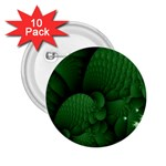 Green Fantasy Fish World Fractal 2.25  Button (10 pack)