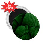 Green Fantasy Fish World Fractal 2.25  Magnet (10 pack)